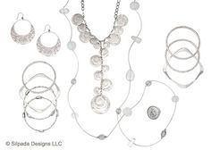 Heads or tails, you'll be delighted by the charming details of this glimmering Sterling Silver ensemble.
