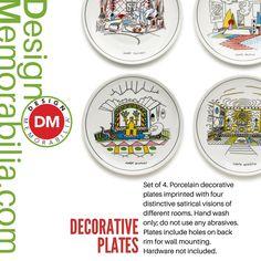Decorative Plates designed by Alessandro Mendini // #DesignMemorabilia #Italy #kichen #kitchenware #home #homedecor #shop #gift #creative #design #porcelain #plates #AlessandroMendini