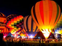 The Desert Balloon Glow: Yuma, Arizona by carliewired, via Flickr