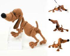134+Crochet+Pattern+Dog+Dachshund+Genreh++por+LittleOwlsHut+en+Etsy