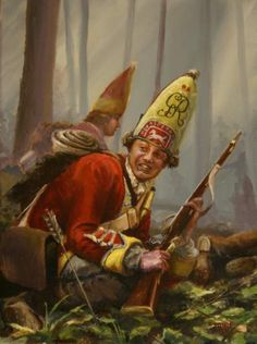 Monangahela by Bryant White by White Historic Art ~ x British Army Uniform, British Uniforms, Independence War, American Independence, Military Art, Military History, British History, American History, Frederick The Great