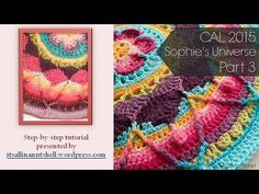 Step-by-step instructions for Sophie's Universe part The rounds shown in this video are also part of Sophie's Garden and Sophie's Mandala. Please note tha. Crochet Mandala Pattern, Crochet Chart, Crochet Squares, Crochet Doilies, Crochet Stitches, Crochet Hooks, Knit Crochet, Manta Crochet, Rugs