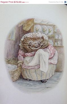 the tail of Mrs Tiggy-Winkle | The Tale of Mrs. Tiggy-Winkle - Beatrix Potter - 1905 - Early printing