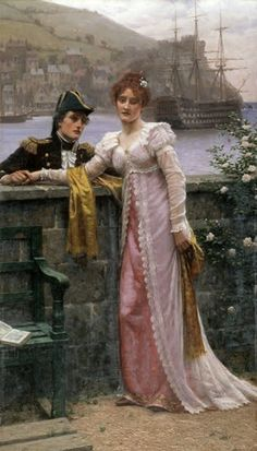 Edmund Blair Leighton  (English, 1853-1922)  Adieu, 1901  Oil on canvas
