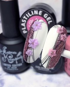 3d Nail Designs, Nail Art Designs Videos, Nail Art Videos, Rose Nails, 3d Nails, Lynn Nails, Nail Art Fleur, Art Deco Nails, Neutral Nail Art
