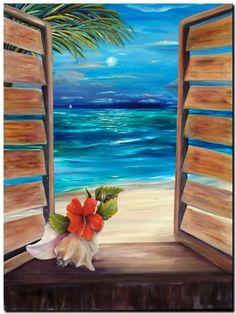 Easy Canvas Painting Ideas For Beginners – Art – Malerei Simple Oil Painting, Easy Canvas Painting, Painting & Drawing, Watercolor Paintings, Canvas Art, Acrylic Canvas, Canvas Ideas, Beach Canvas Paintings, Ocean Paintings