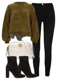 """""""#14165"""" by vany-alvarado ❤ liked on Polyvore featuring River Island, Gucci, Gianvito Rossi and Topshop"""