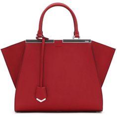 Fendi 3Jours Petite Satchel ($2,650) ❤ liked on Polyvore featuring bags, handbags, purses, bolsos, bolsas, apparel & accessories, satchel handbags, genuine leather satchel handbags, red leather purse and red satchel purse