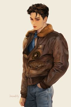 bruh, boyfriend material screams in this fanart Character Inspiration, Character Art, Character Concept, Kai Arts, Exo Anime, Exo Fan Art, Kpop Drawings, Kim Jongin, Handsome Anime Guys