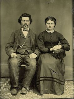 Tintype of Wisconsin Couple by depthandtime, via Flickr