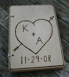 Personalized wedding guestbook