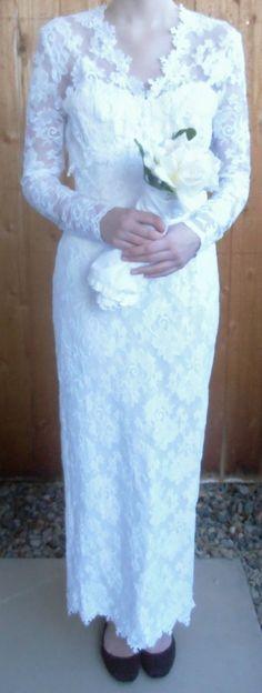 Jessica McClintock Bridal Wedding Dress with Vintage Hanger   eBay $50.00