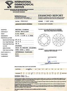 Foto 9, IGI, Diamant 0,62ct Brillant Lupenrein Wesselton Juwel!, D5777