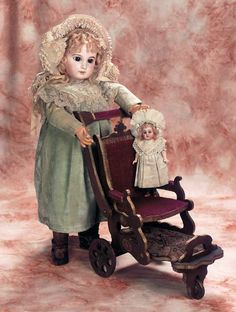 Antique Jumeau French Bisque Brown-Eyed doll, circa 1884.