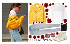"""NYFW Street Style"" by let-the-green-girl-go ❤ liked on Polyvore featuring MANGO, Topshop, Y/Project, Converse, Cole Haan, Dolce&Gabbana and Gucci"
