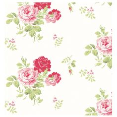 Antique Rose Bouquet Wallpaper | Wallpaper | CathKidston...would adore this in our new bathroom!