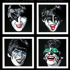 Kiss The Beatles by Mr Brainwash