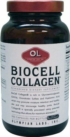 "Olympian Lab Biocell Collagen II, 500mg, 300-Count by Olympian Lab. $57.85. BioCell Collagen II™ is a natural dietary supplement that provides nutritional support for connective tissue health, specifically articular joints, and the skin. BioCell Collagen II™ is derived from 100% pure hormone-free chicken sternum collagen which is the richest natural source of these essential nutritional ""building blocks"".. Save 54%!"