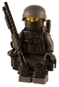 Security Special - Custom Lego SWAT Figure