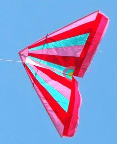 Delta kite made of surf sail, Wibo's Kites