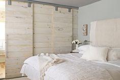 Master headroom / master bathroom separation wall
