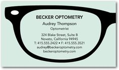 optometry business cards - Google Search