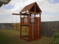 How to Build DIY Wood Fort and Swing Set Plans From Jack's Backyard. Learn how to build your own backyard wooden Triton playset with do-it-yourself swing set plans and save money.