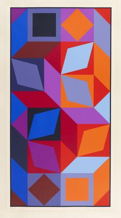 Victor Vasarely, Dom (Bleu-Rouge), 1969.  Design is fine. History is mine.