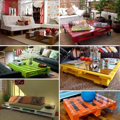 Pin by Lupita Balderas on decoracion mex in 2019 Diy Furniture Cheap, Backyard Furniture, Pallet Furniture, Furniture Makeover, Pallet Crates, Pallet Sofa, Diy House Projects, Diy Pallet Projects, Pinterest Pallets
