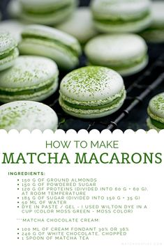 Discover recipes, home ideas, style inspiration and other ideas to try. Matcha Dessert, Dessert Drinks, Dessert Recipes, Green Tea Dessert, Matcha Cake, Matcha Cookies, Macaron Cookies, Green Tea Recipes, Sweet Recipes
