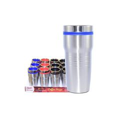 24 Units of Coffee Mug Insulated Color Top - Coffee Mugs Wholesale Coffee Mugs, Disposable Coffee Cups, Stainless Steel Thermos, Cute Coffee Mugs, Water Bottle, The Unit, Tableware, Top, Color
