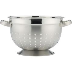 Footed Colander in Colanders, Salad Spinners | Crate and Barrel