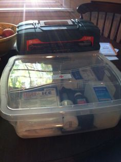 Plano tackle box First aid kit and additional supplies