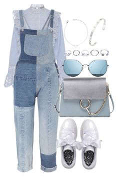 """""""Untitled #3820"""" by theeuropeancloset on Polyvore featuring Sea, New York, RE/DONE, Puma, Chloé, Gentle Monster, GUESS and Gucci"""
