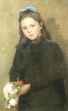 """Portrait of a Young Girl,"" Abbott Handerson Thayer, oil on canvas, 23 x 15"", private collection."