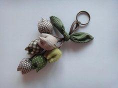 Flower Keychain Tulip Keychain key fob flower by BlueTembo on Etsy