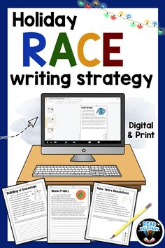 Looking for writing lessons for the holiday season? Perfect citing text evidence with the RACE writing strategy. These passages and question are the perfect way to practice paragraph writing this winter. Click to preview the passages! #writingLessons #RACEStrategy #ELALessons #ELATeachers #ELAactivities #BackToSchoolELA #WritingStrategies #ELABlogs #RACEWriting #GoogleClassroom #DistanceLearning #DigitalHybrid #HybridLearning #DistanceLearningELA #DigitalLessonPlans #MiddleSchoolELA