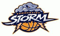 Summerside Storm Primary Logo on Chris Creamer's Sports Logos Page - SportsLogos. A virtual museum of sports logos, uniforms and historical items. Logo Basketball, Basketball Drills, American Logo, Lightning Logo, Summer Logo, Sports Team Logos, Great Logos, Game Logo, Team Gifts