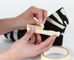 DIY Zebra Glitter Shoes