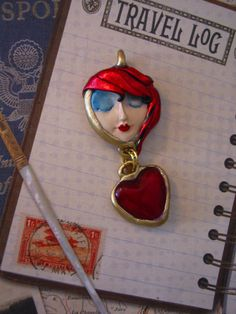 Handmade Pretty Moon face Necklace serenity by SusanSorrentino