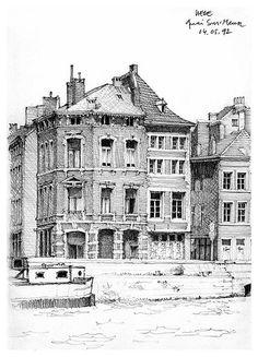 Liège, quai Sur-Meuse by gerard michel, via Flickr