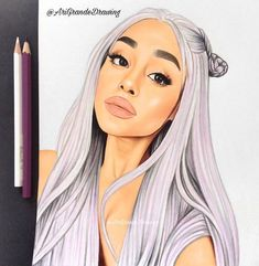 Ariana Grande Cute, Ariana Grande Drawings, Ariana Grande Wallpaper, Best Friend Drawings, Celebrity Drawings, Drawing Poses, Pencil Portrait, Illustrations And Posters, Cute Drawings
