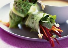 Love this! Live Spring Rolls with Lemon-Ginger Dipping Sauce #raw, #vegan by @vegtimes