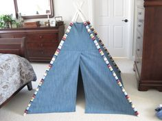 Teepee tent tutorial - I already made these for my kids, but I'm bookmarking this tutorial so I can toss the smelly book I got the instructions from. :)