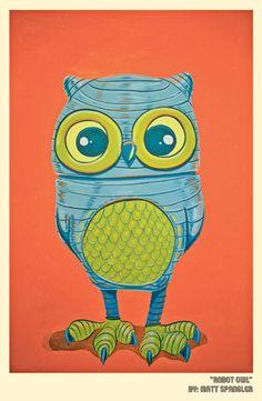Robot Owl by Matt Q. Spangler
