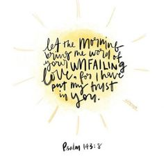 because unfailing love never fails.