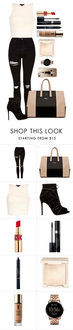 """""""Untitled #1605"""" by fabianarveloc on Polyvore featuring Topshop, Gianvito Rossi, Yves Saint Laurent, Christian Dior, Jouer, FOSSIL and Casetify"""