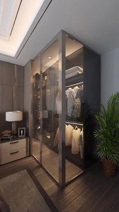 Small House Interior Design, Small Room Design, Home Room Design, Apartment Interior Design, Bedroom Closet Design, Bedroom Furniture Design, Modern Bedroom Design, Modern House Design, Modern Houses