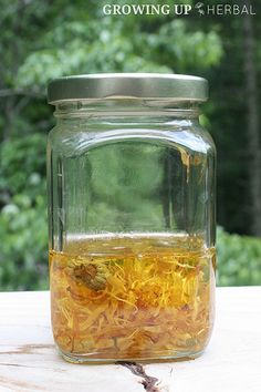 Learn about the herb calendula and how to use it to make an infused herbal oil in this weeks calendula herb challenge. Homeopathic Remedies, Home Remedies, Natural Remedies, Healing Herbs, Medicinal Plants, Natural Herbs, Natural Healing, Natural Medicine, Herbal Medicine