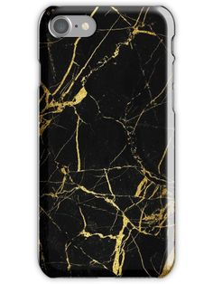 Black - Gold Marble texture iPhone 7 Snap Case Black And Gold Marble 8515b54dff9c8